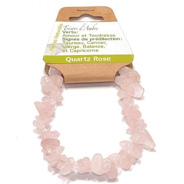 Bracelet en Pierre Baroque Quartz Rose