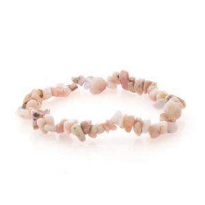 Bracelet en Pierre Baroque Opale rose des Andes