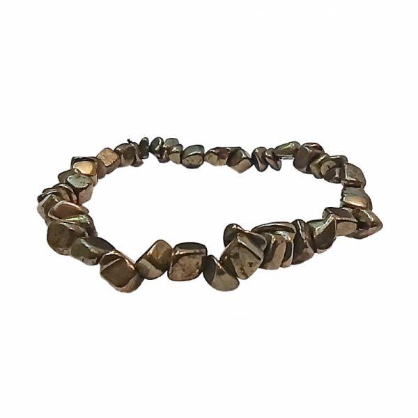 Bracelet en Pierre Baroque Pyrite